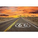 GREAT ART® XXL Poster – Route 66 – Wandbild Dekoration