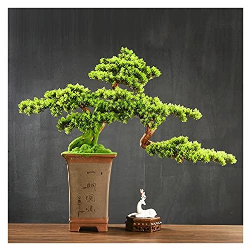 Vegetación y plantas artificiales 29 pulgadas Plantas Artificiales Bonsai Pine Tree, Simulación Bienvenido Pine Bonsai Adornos, árboles falsos se utilizan en la artesanía doméstica y decoración ZEN De