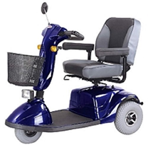 Affordable CTM - HS-730 - Full Size Heavy Duty Road Class Scooter - 3-Wheel - Blue