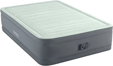 Intex Full Raised Premaire Elevated Airbed Mattress With Built In Electric Pump
