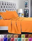 Elegant Comfort - Juego de sábanas de 1500 Hilos, Calidad egipcia de Lujo, Super Suave, Antiarrugas y Resistente a la decoloración, 3 Piezas, Elite Orange, Twin/Twin XL