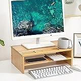 YYHDD Hölzerner Monitorständer Bildschirmständer einfach Platz sparen Monitorständer Riser Verstellbarer mit Aufbewahrungsfunktion für Arbeitszimmer oder Büro