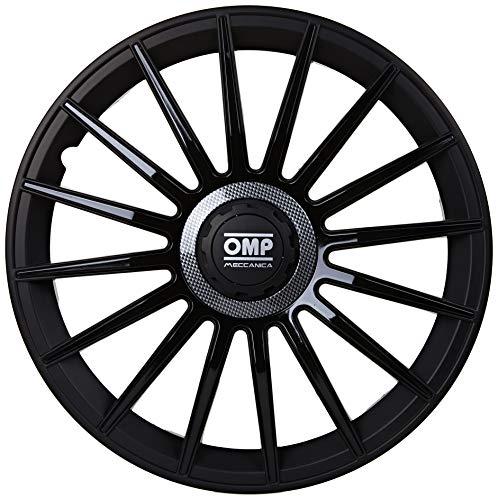 """Omp Licencia OMP1415 Tapacubos, Negro/Carbón, 14"""", Set de 4"""