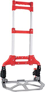 Knack Heavy Duty Hand Truck & Dolly - 150 lb. Capacity Aluminum Utility Cart with Adjustable Shaft, Folds Down to Just 2