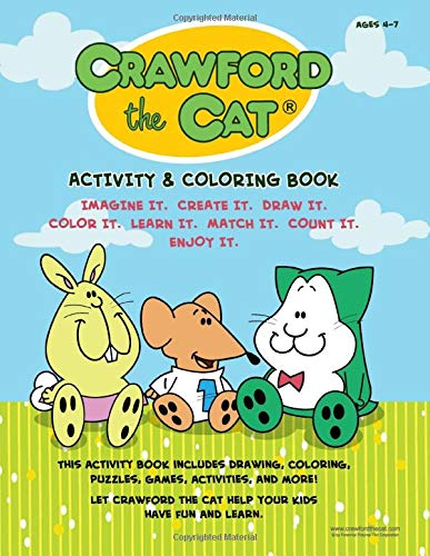 Crawford the Cat Activity and Coloring Book