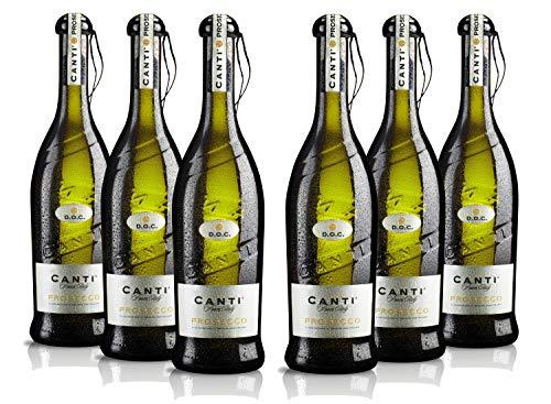 Canti Prosecco DOC Frizzante Schaumwein Wein Trocken 6 Flaschen Prosecco (6 x 0.75 l)
