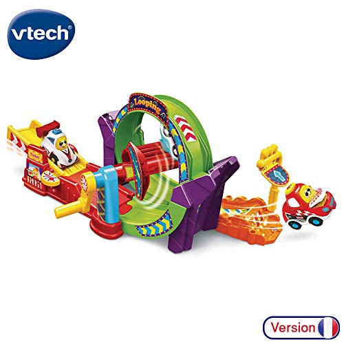 VTech - Tut Tut Bolides - Tut Tut Looping, Petit Voiture King Roi du Looping incluse