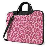 Pink Leopard Animals Print Adult Student 15.6 in Bolsa para computadora portátil Funda Protectora para computadora portátil Bolso Bandolera