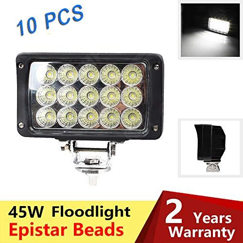 WELLIT 10x45w Led Arbeitsscheinwerfer Rechteckig Flutlicht Reflektor Worklight Scheinwerfer Arbeitslicht Offroad 12v 24v