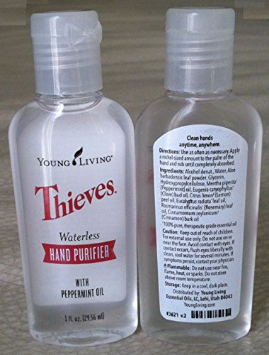 Thieves Waterless Hand Purifier 2 pack of 1 fl. oz. by Young...