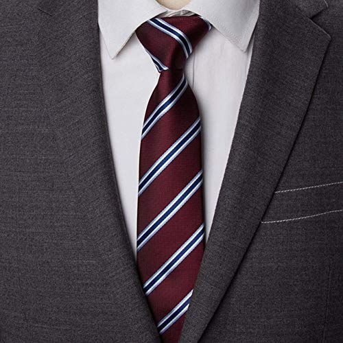 FGHSK Tie Cravatta Da Uomo A Righe Da 6 Cm Cravatta Da Uomo Abiti Da Cerimonia Per Uomo Abito Jacquard PerCamicia Slim Con Cravatta, P