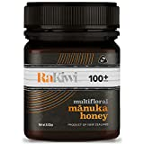 RaKiwi Raw Multifloral Manuka Honey Certified MGO 100+ Authentic New Zealand Honey | Wild, Non-GMO Superfood for Daily Wellness | Premium New Zealand Honey (8.82oz/250g)