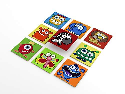Tink Pegatinas de PVC | Adhesivo para azulejos para azulejos, cocina, baño, superficies de madera y escaleras (15 x 15 cm // 10 unidades, diseño divertido para niños)