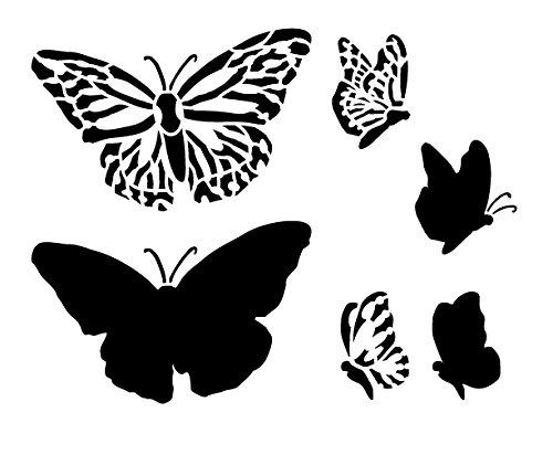 Monarch Butterfly Schablone by studior12| Elegante Natur Kunst Elementen–klein 8,5x 7-inchreusable Mylar | Malerei, Kreide, Mischtechnik | Vorlage, für Journaling, DIY Home Decor–stcl520_ 1