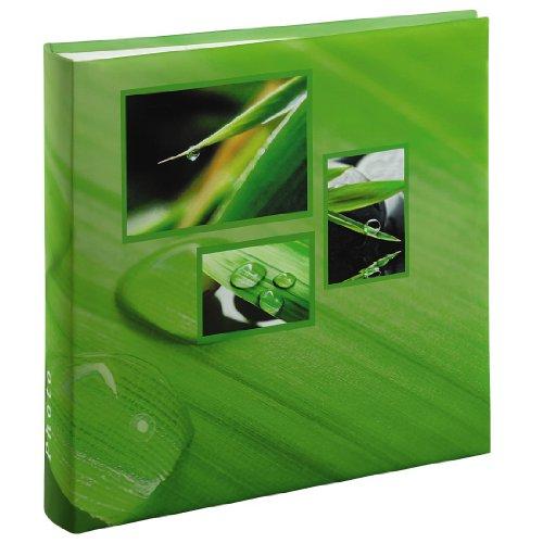 Hama Jumbo Fotoalbum Singo (Fotobuch 30x30 cm, Album mit 100 weißen Seiten, Photoalbum zum Einkleben und zum Selbstgestalten) grün