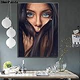 wojinbao kein Rahmen Das Langhaarige Mädchen Poster Öl