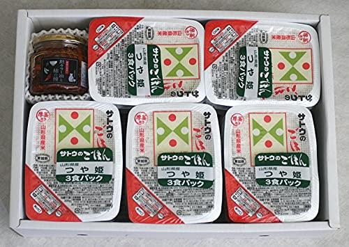 ご飯のお供 担々ラー油と柿の種&つや姫パックご飯セット (担々ラー油と柿の種160g、つや姫パックご飯200g×15パック)