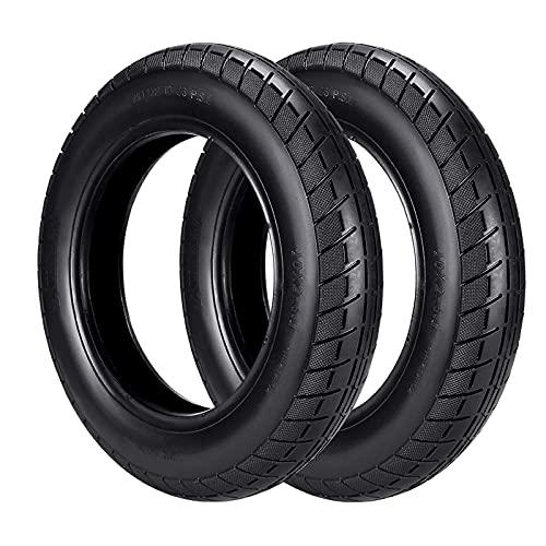 QLIGHA Neumático de Scooter de 10 Pulgadas, neumático de Repuesto Delantero/Trasero, 10 * 2, Compatible con Ruedas de Scooter eléctrico M365, monopatín