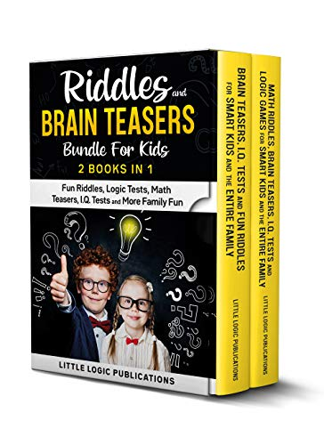 Fun Riddles and Brain Teasers Bundle For Kids 2 book in 1:...