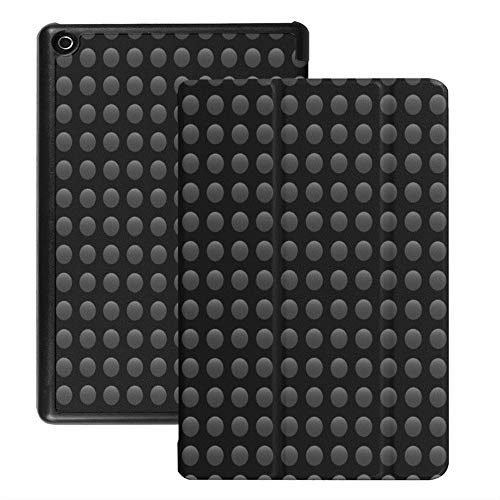 Case for Fire Hd 8 Tablet (2018/2017/2016 Release), Seamless Pattern Circle On A Black Background Vector Case Cover with Auto Wake/Sleep -  CHMIJ, XM-892-200330-5234