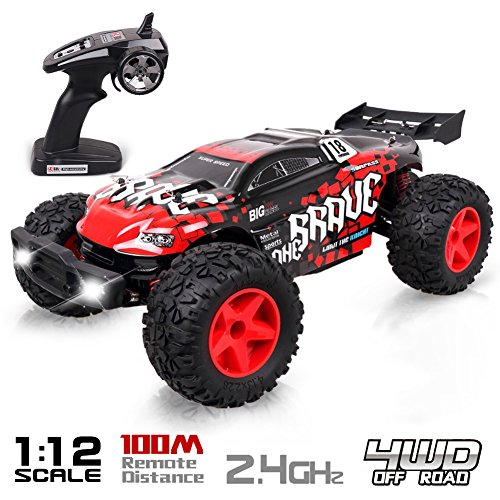 Remote Control Car Off Road, Rolytoy 1/12 Large Scale RC Electric Rock Crawler 4WD High Speed Racing Monster Truck Vehicle for adults and Kids