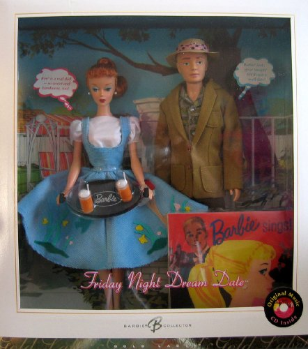 Friday Night Dream Date Barbie & Ken Doll Giftset w CD - Gold Label Reproduction Barbie Collector (2006) -  Mattel, K2794