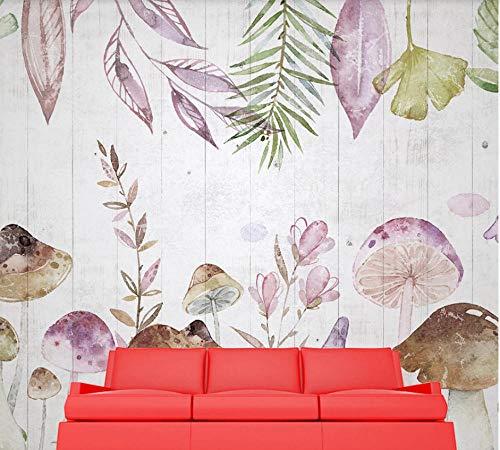 SHANGZHIQIN 3D Wallpaper Walls Modern Minimalist Abstract, Tropical Plants Palm Leaf Wood Grain Children Room
