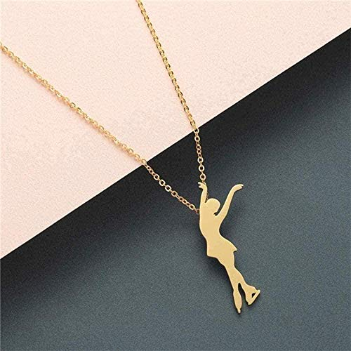 Collar Mujer Collar para mujer Hombre Collar llamativo Collar de mujer Joyas Acero inoxidable Lobo Fénix Yoga Ballet Deporte Cadena de oro Collar colgante Chica Regalo Collar Colgantes