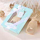 48 pcs Poppin Bottle Bottle Opener Baby Shower Favors Gift for Boy with Exquisite Packaging Box,Baby Shower Souvenirs For Guests Boy Baby Shower Party Decor Supplies by WeddParty (Blue, 48)