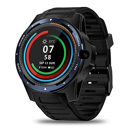 ZHENAO Fitness Tracker Thor 5-Bis-Chip Dual System Smart Watch Pulsera 800 Millones Píxeles Long Standby 2 + 16G Sport Fitness Tracker Exclusivo/A