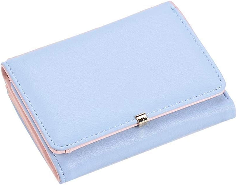 Girls Purse Women's Wallet,Ladies Short BiWallet Wallet Mini Card Bag PU Leather (color   B)