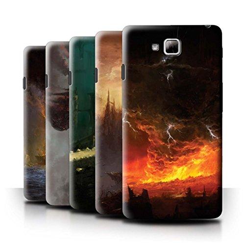 Oficial Chris Cold Carcasa/Funda/Case dura para el LG Optimus L9 II/D605 / serie: Tierra Caida - 8pcs Paquete