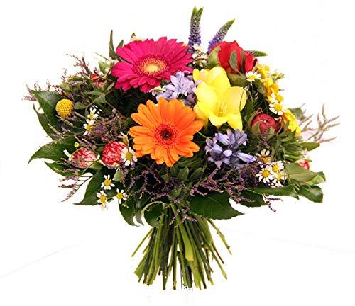 Flora Trans bunter Strauß mit frischen Blumen -Farbkasten- Blumenstrauß frisch versenden