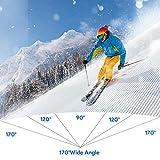 Bagotte Action Cam 4K WiFi Unterwasserkamera 30M Wasserdicht 16MP Ultra HD Sport Kamera Geeignet für Reisen Outdoor-Sportarten mit 2*Herausnehmbarer Akkus und Zubehör
