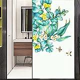 Xijier Vinilo decorativo para ventana, privacidad de pájaros, no adhesivo, de cristal, esmerilado, para puerta, ventana, ventana, 40 x 90 cm, 35,4 cm x 35,4 cm