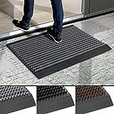 Floordirekt Fußmatte Power Brush - Testurteil Sehr Gut - Schmutzfangmatte Fußabtreter für außen und innen - Fussmatte Schuhabstreifer Türmatte - viele Farben & Größen (Grau, 40 x 60 cm)
