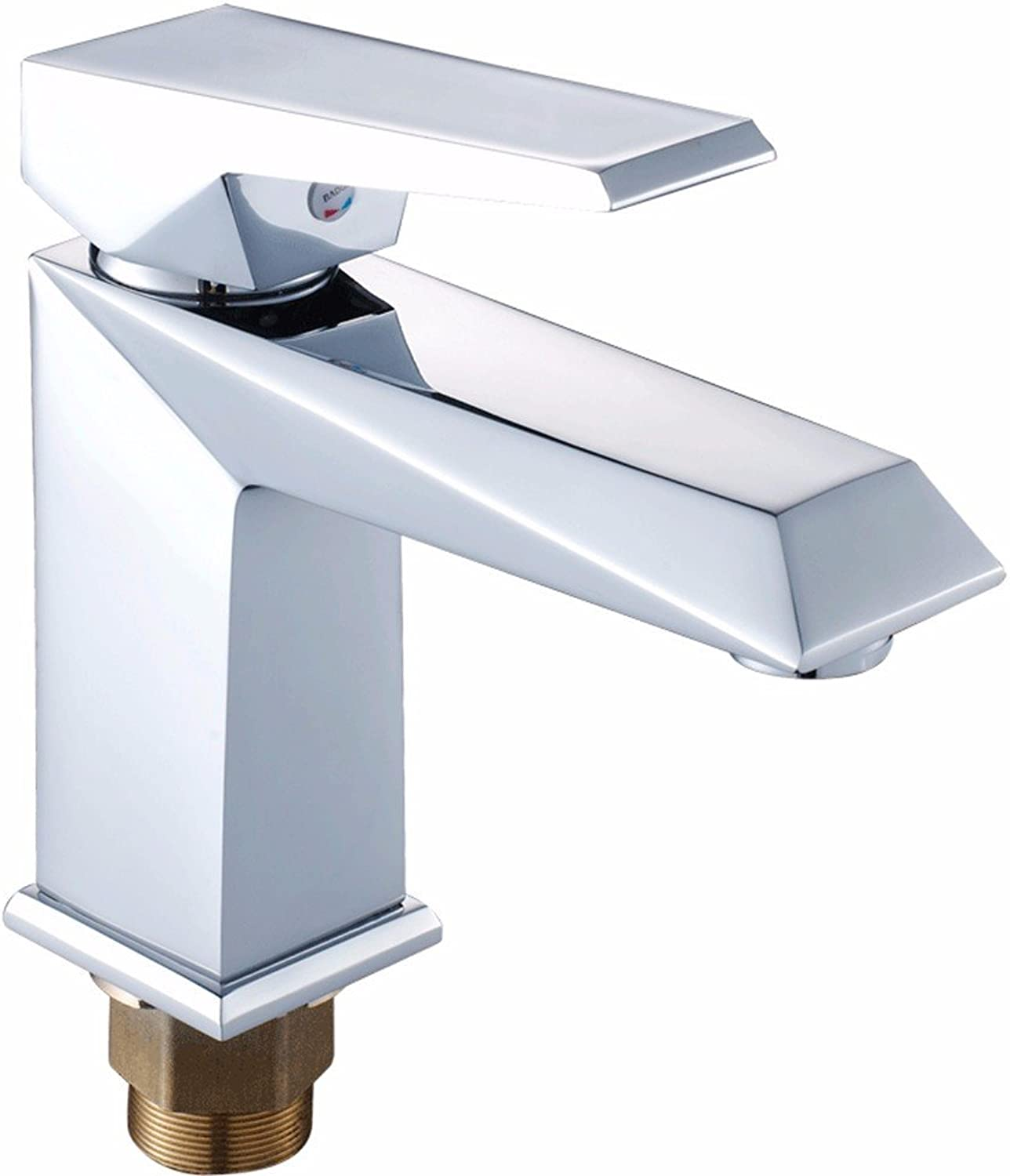 IJIAHOMIE Style of Bathroom Sink Taps, Bathroom Faucets,Waterfall Basin Sink Mixer Tap Modern,Silver,hot and Cold Water,Ceramic Valve,Single Hole Single Handle,
