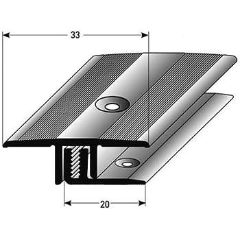 couleur: bronze clair Profil/é de bordure // seuil d/'arr/êt avec le nez pour le stratifi/é // parquet 10,3 mm de haut for/é Aluminium anodis/é