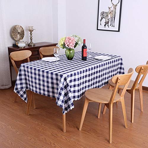 Yinaa Mantel Mesa Cocina Rectangular Antimanchas Luz Suave y Transpirable para Moderno Festival Fiesta Azul 160×160cm
