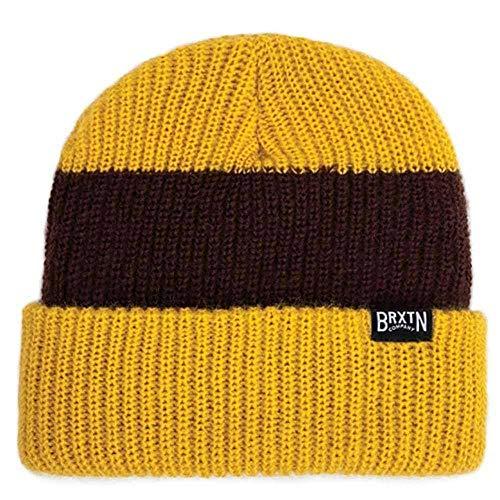 Brixton - Bonnet - Homme Marron Mustard Brown taille unique