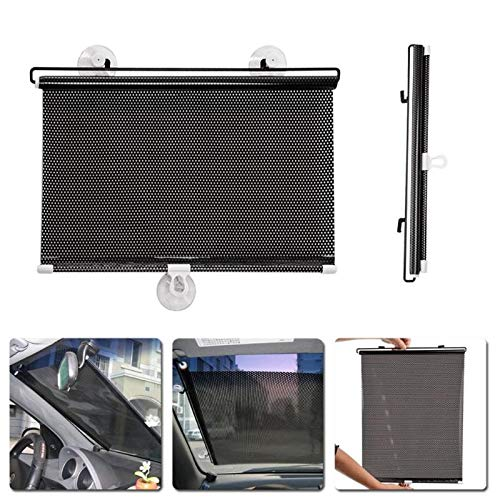 Fijner 40cm x 60cm Zonwering Auto Auto Intrekbare Auto Zonnescherm Side Zonwerende Autohoes Zonnescherm Window Cover Gordijn accessoire