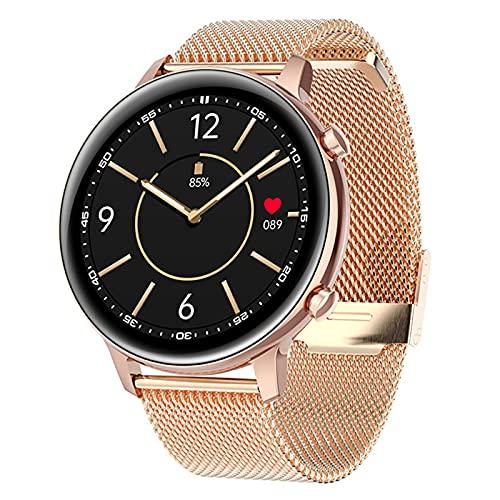 XMYL Smartwatch para Mujer Hombre, Reloj Inteligente Elegante Pulsera de Actividad Impermeable IP67 con Pulsómetros Podómetro, Reloj Deportivo para Android iOS Samsung Huawei Teléfono Inteligente,B