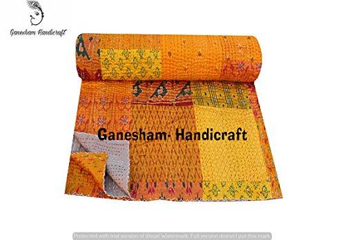 Couvre-lit Kantha vintage en patchwork fait à la main, couverture pour enfants, couvre-lit en coton, couvre-lit indien, couvre-lit bohème, couvertures indiennes