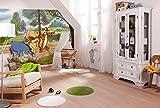 Komar Papel Pintado Disney Winnie The Pooh Expedition Mural, Vinilo, Multicolor, 4Piezas