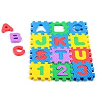 PULABO 耐久性ミニ36ピースEVAパズル子供のおもちゃアルファベット文字数字フォームマット教育おもちゃデザインが美しくて簡潔である