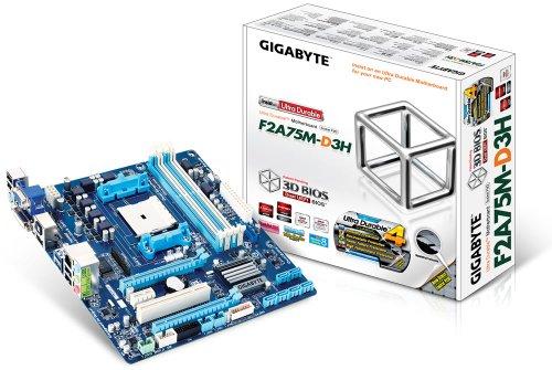 GigaByte GA F2A75M D3H Rev 10 Mainboard Sockel FM2 Micro ATX AMD A75 4X DDR3 Speicher USB 30