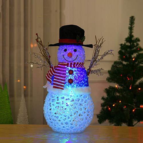 Yangyang Decoración de Muñeco de Nieve Cepillado Navideño Luces de Ambiente Luces de Noche Coloridas Adornos de...