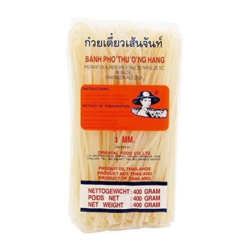 Fideos de arroz granjero de 3mm de ancho 400g