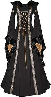 Womens Renaissance Costume Dress Medieval Victorian Vintage Cosplay Halloween Dresses