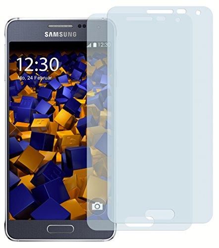 mumbi Schutzfolie kompatibel mit Samsung Galaxy Alpha Folie klar, Bildschirmschutzfolie (2X)